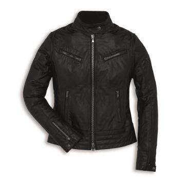 Ducati Vintage Damen Lederjacke schwarz