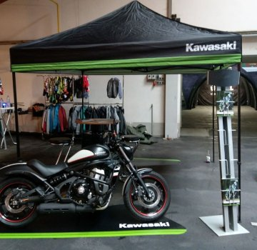 Kawasaki Party Pavillon Easy Up Zelt schwarz